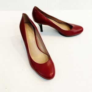 Franco Sarto Red Leather Classic Heels